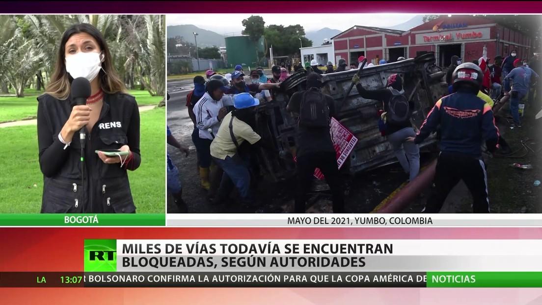 El Comité del Paro de Colombia anuncia que ordenó desbloquear las vías en medio de las conversaciones con el Gobierno