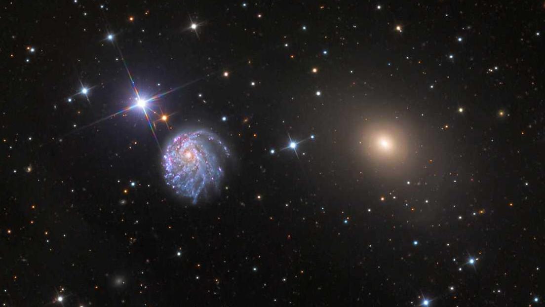 El Hubble capta una galaxia espiral inusualmente retorcida