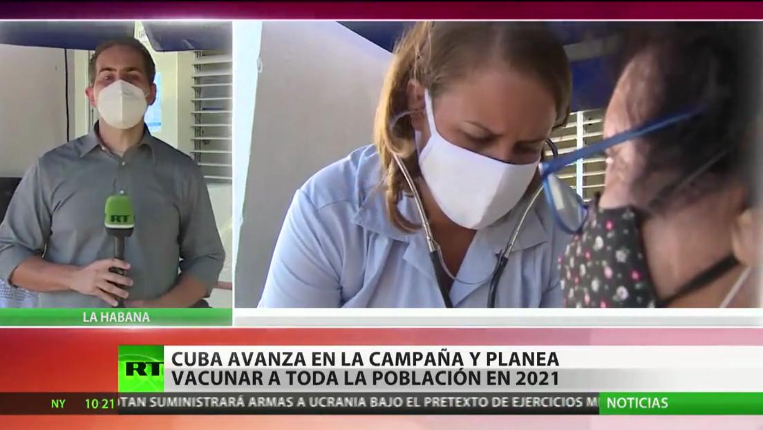 Cuba avanza en su campaña de inmunización y planea vacunar a toda la población en 2021