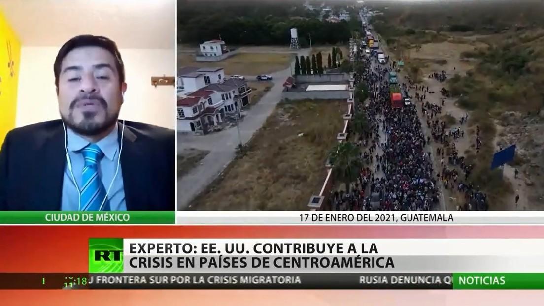 """Analista: """"EE.UU. es responsable de la desestabilización de muchos de los gobiernos de Centroamérica, que tiene un impacto en la migración"""""""