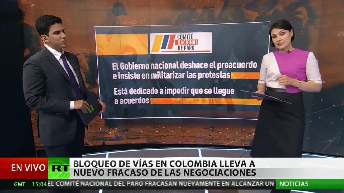 Protestas y nuevo fracaso de las negociaciones en Colombia tras más de un mes de paro nacional