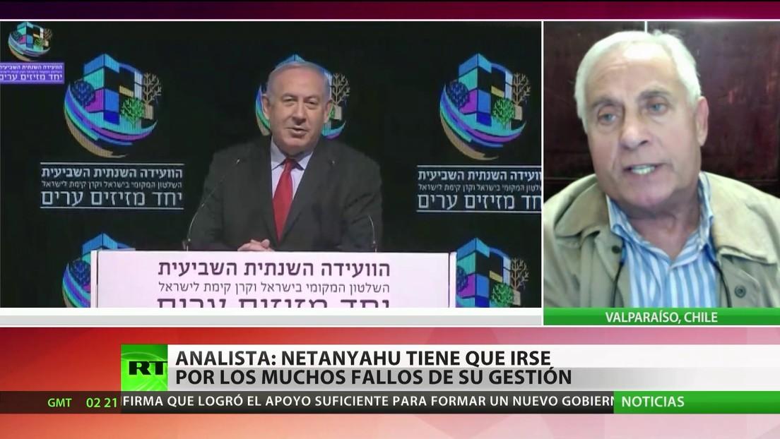 """Analista afirma que Netanyahu """"tiene que irse al basurero de la historia"""" por los muchos fallos de su gestión"""
