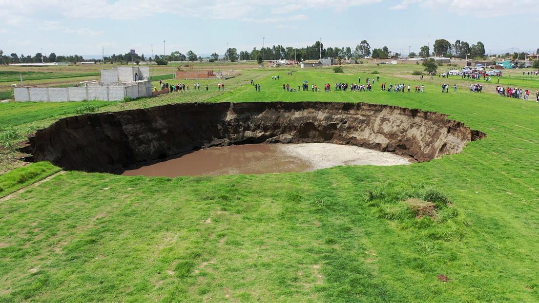 VIDEO: El socavón gigante en México no para de expandirse y ya mide 97 metros de diámetro