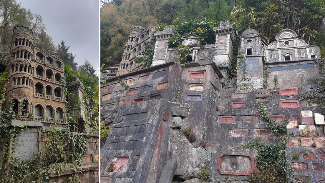 Encuentran una mini Italia escondida en un bosque de Gales con decenas de réplicas de famosos monumentos (FOTOS)