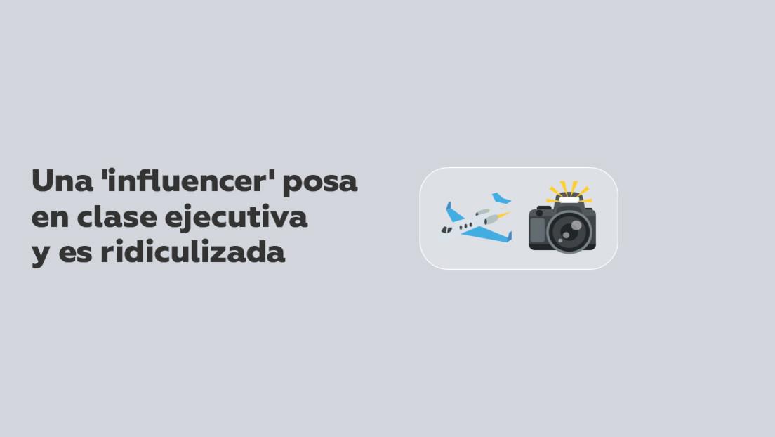FOTOS: Una 'influencer' posa para Instagram en clase ejecutiva y es ridiculizada al descubrirse que volaba en económica