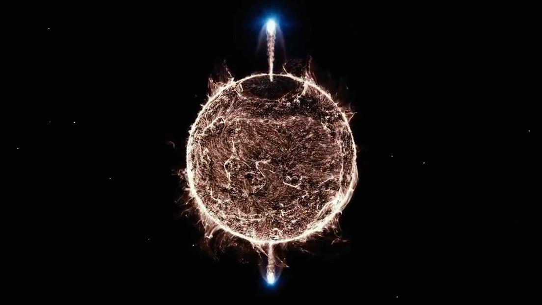 """VIDEO: Recrean en 3D el origen de un brote de rayos gamma """"en nuestro patio trasero cósmico"""" que hace cuestionar lo que sabemos de este fenómeno"""