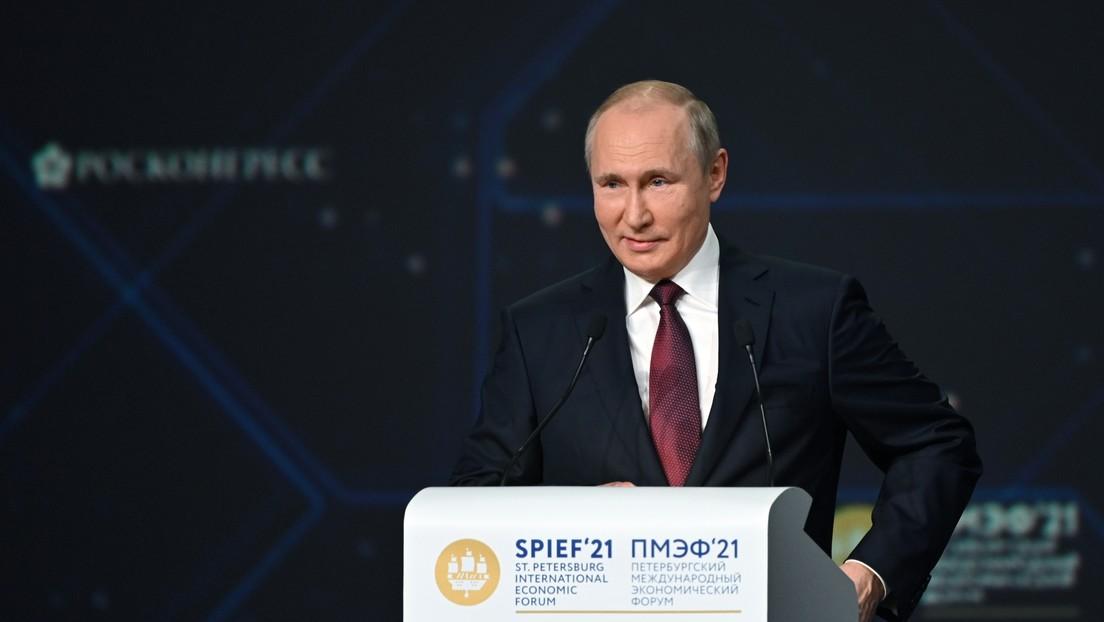 Desde las vacunas hasta el cambio climático: temas principales del discurso de Putin en el Foro Económico Internacional de San Petersburgo