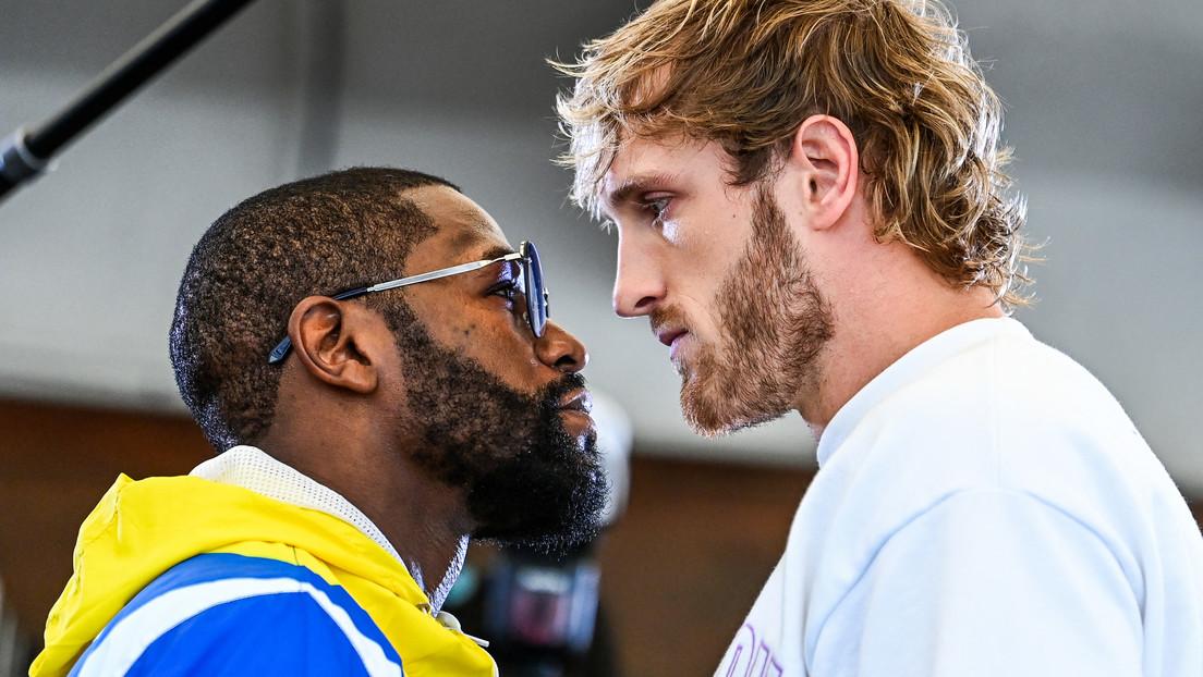 """Mayweather promete enseñar a golpes la """"diferencia entre el boxeo de YouTube y el de élite"""" a Logan Paul en un tenso cara a cara"""