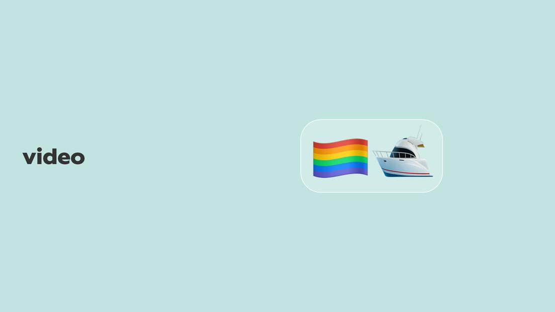 Insultan a los ocupantes de un bote con la bandera LGBT, su lancha se incendia y tienen que ser salvados por los propios acosados