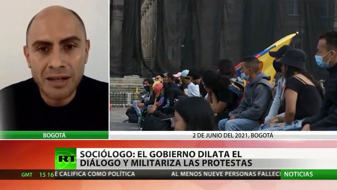 Gobierno colombiano ve avance en los diálogos con el Comité del Paro, pero los activistas denuncian retroceso