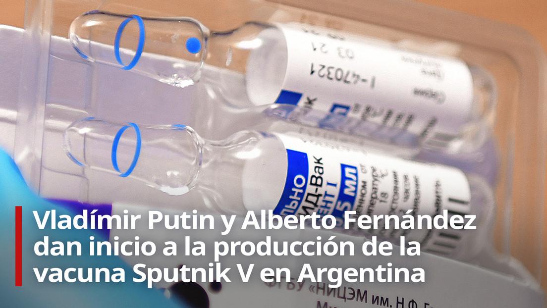 VIDEO: Putin junto con los presidentes argentino y serbio dan inicio a la producción de la vacuna Sputnik V en estos países