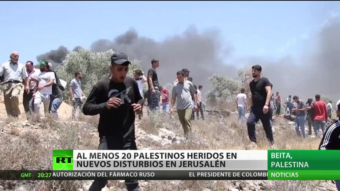 Al menos 20 palestinos resultan heridos en nuevos disturbios en Jerusalén