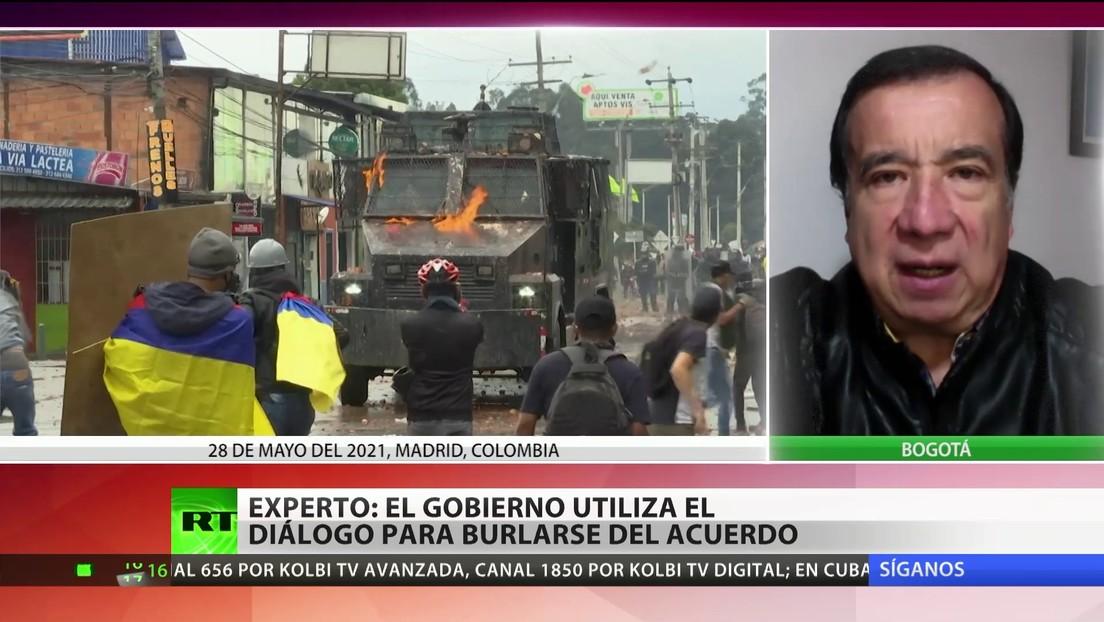 """Experto afirma que el Gobierno colombiano utiliza el diálogo con el Comité del Paro para """"burlar toda posibilidad de lograr un acuerdo"""""""