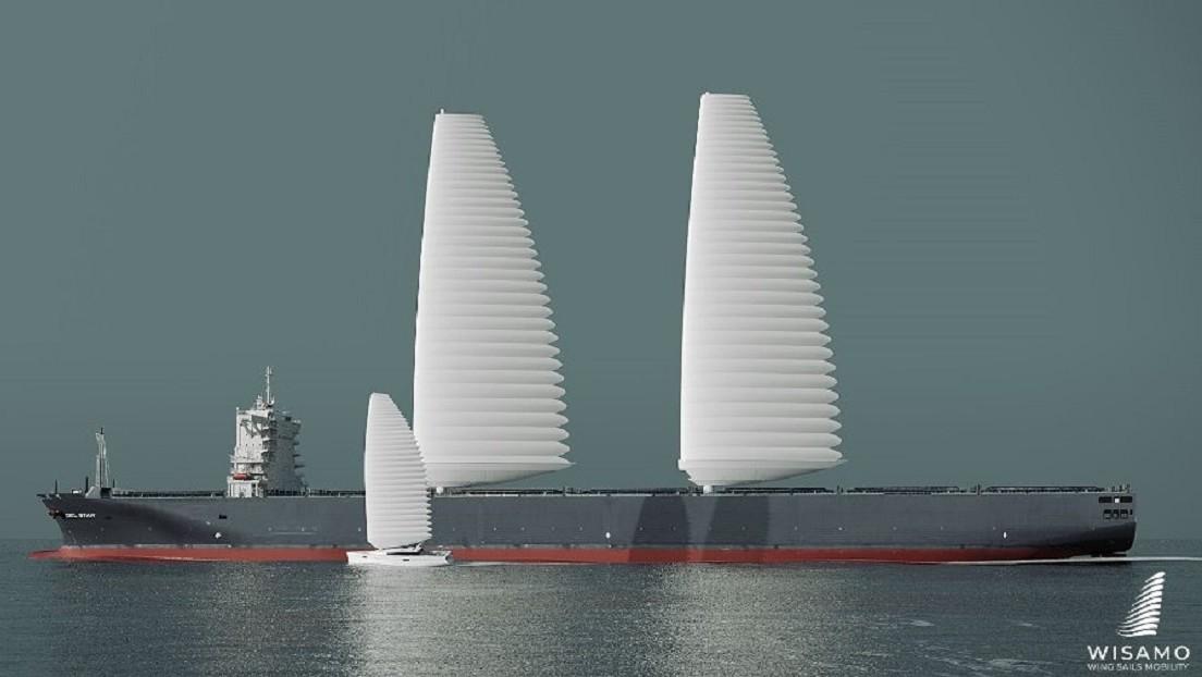 Michelin presenta un sistema innovador de velas inflables para descarbonizar el transporte marítimo (VIDEO)