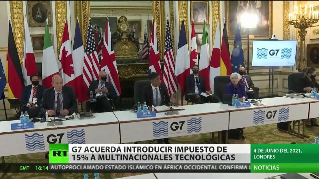El G7 acuerda introducir un impuesto de un 15 % para las multinacionales tecnológicas