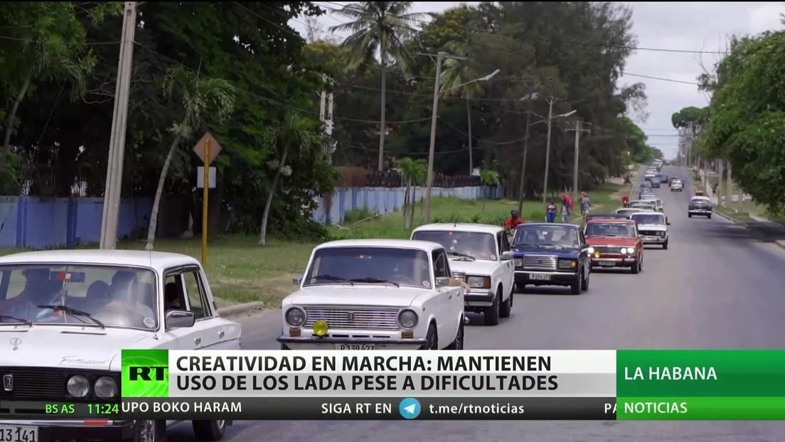 Creatividad en marcha: conductores en Cuba continúan utilizando autos Lada pese a las dificultades
