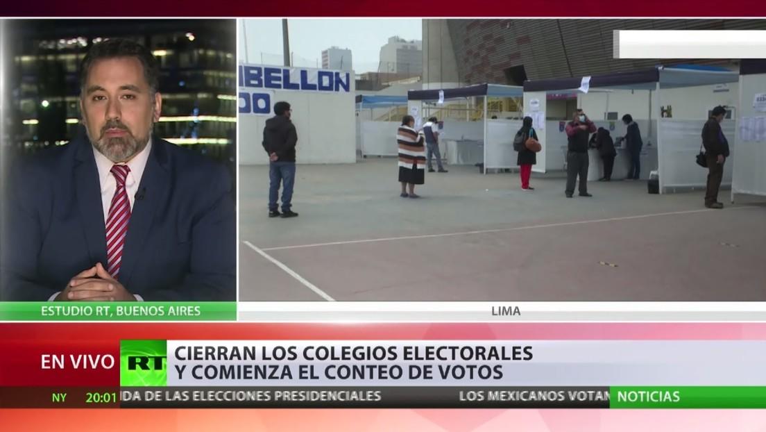 Cierran los colegios electorales en Perú