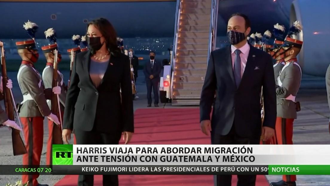 Harris viaja a Centroamérica para abordar las causas de la migración ante la tensión entre Guatemala y México