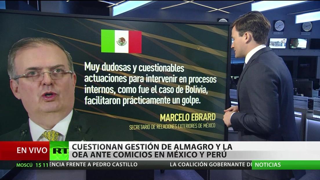 Cuestionan la gestión de Almagro y la OEA ante las elecciones en México y Perú