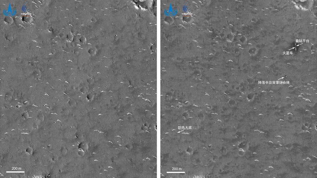 FOTO: Así se ve en alta definición el lugar de aterrizaje de la misión china a Marte Tianwen-1