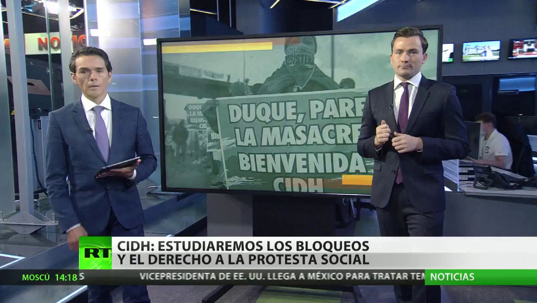 La CIDH verifica los abusos cometidos durante protestas tras el fracaso del diálogo en Colombia