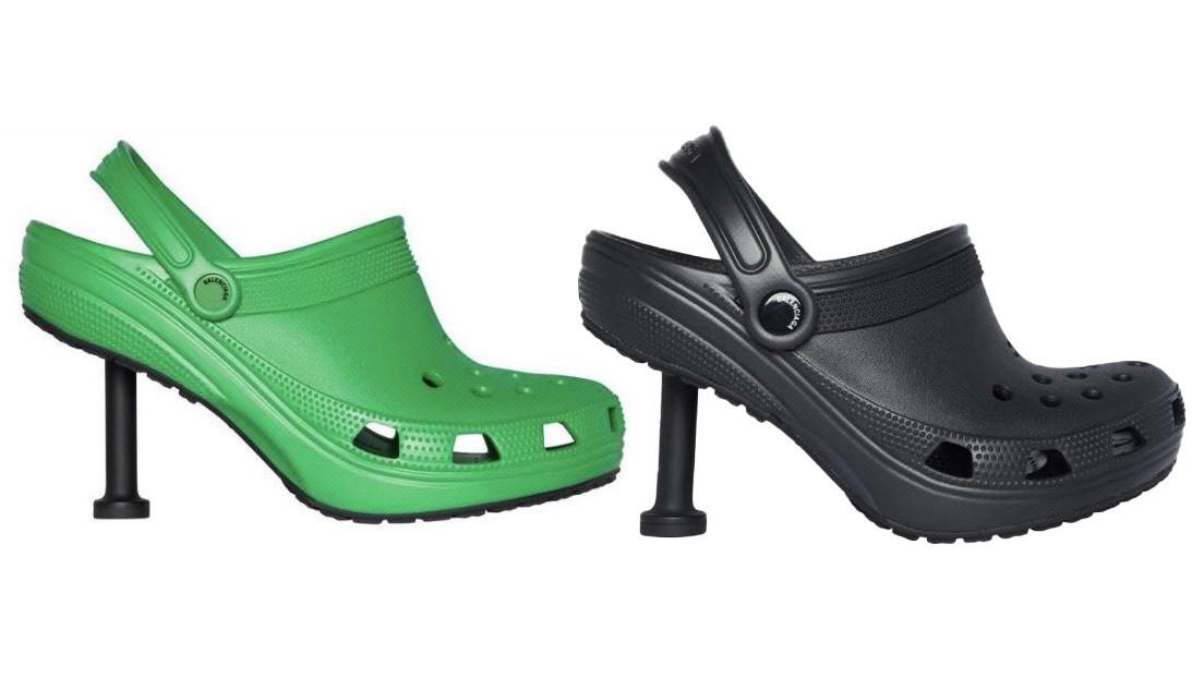 FOTO: Balenciaga y Crocs presentan un zueco con tacón de aguja y la Red estalla con bromas