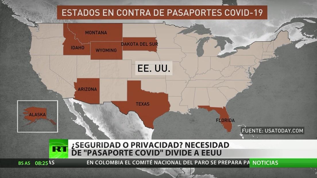 Seguridad vs. privacidad: La implementación de pasaportes covid divide a la sociedad de EE.UU.