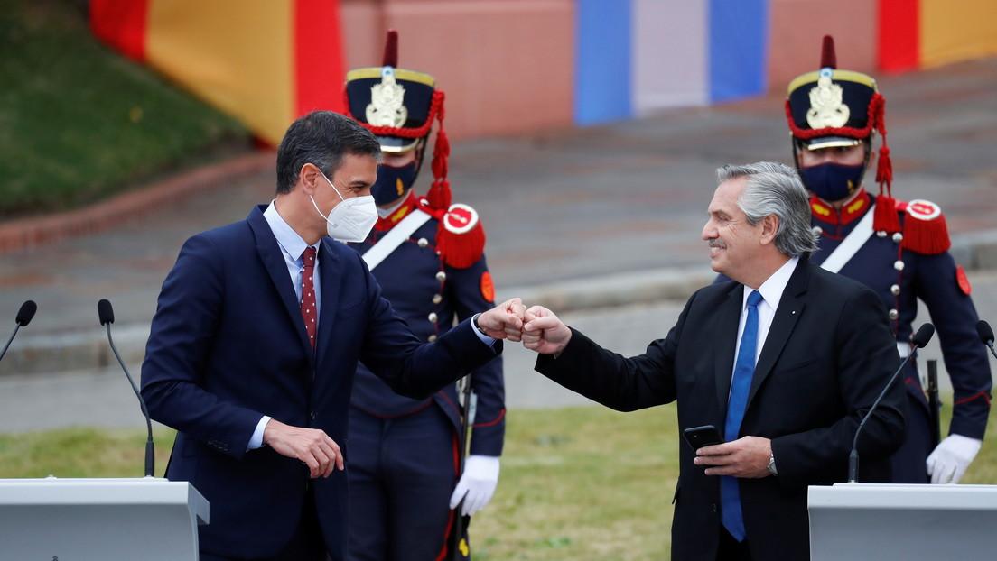 Respaldo a negociación con FMI y la alianza por vacunas: el saldo del encuentro entre Pedro Sánchez y Alberto Fernández