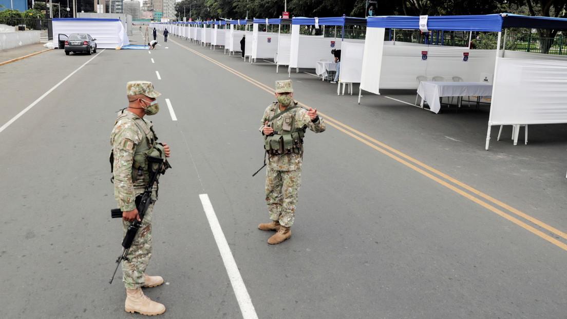 """Ministerio de Defensa de Perú ratifica su """"compromiso de respetar la voluntad ciudadana"""" ante la crispación por los resultados de las presidenciales"""