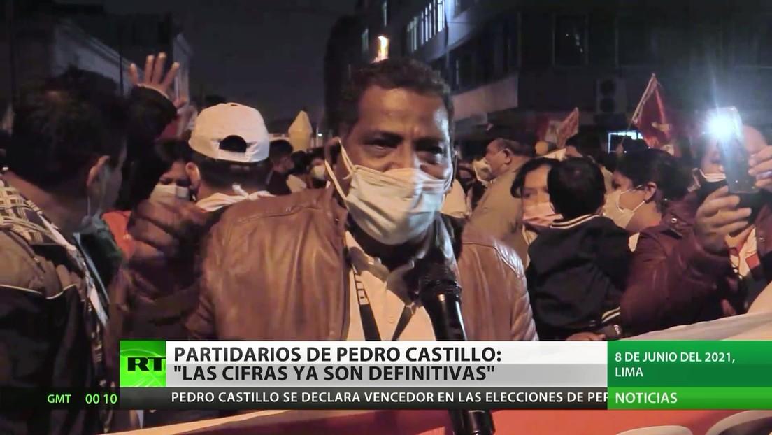 Perú: Castillo se proclama vencedor antes de conocerse los resultados definitivos