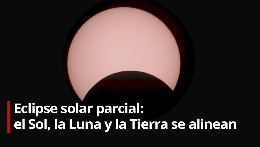 Eclipse solar parcial: el Sol, la Luna y la Tierra se alinean (VIDEO)