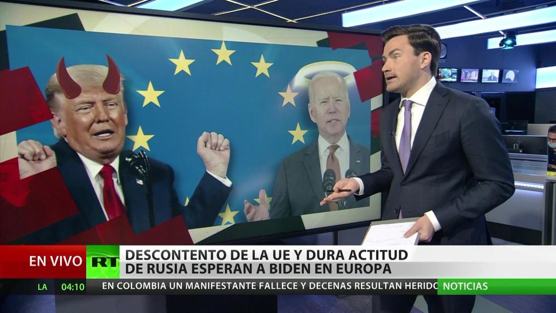 Biden visita Europa en medio del descontento de la UE y una dura actitud de Rusia