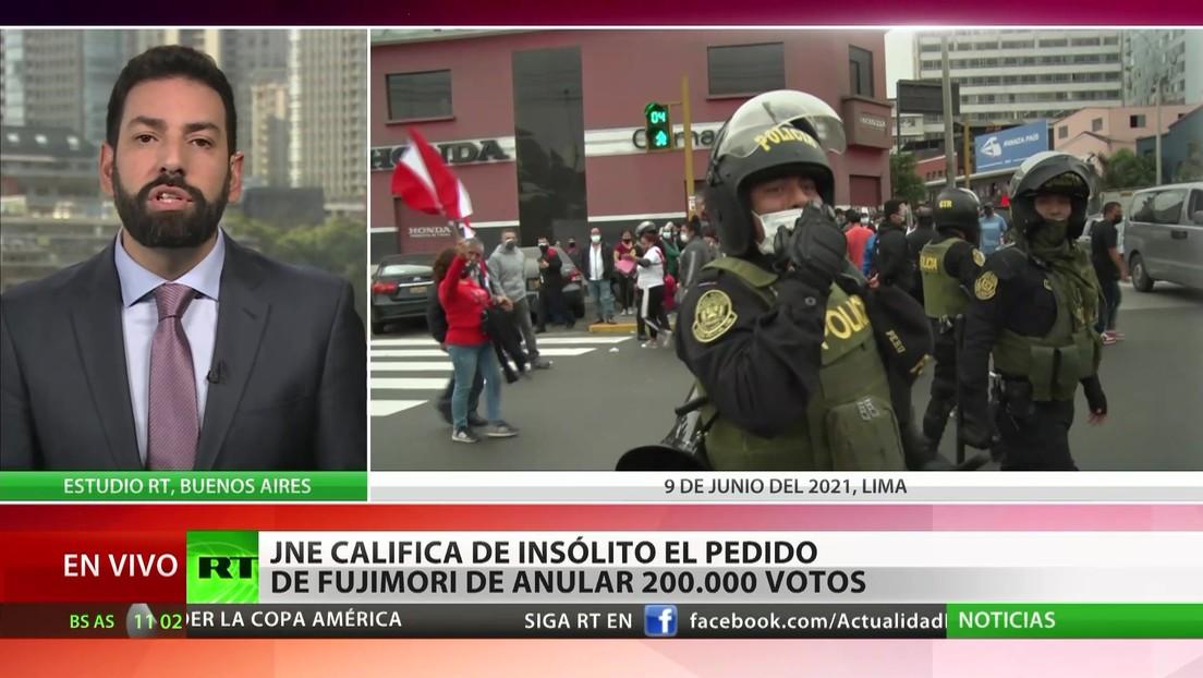 Perú: Jurado Nacional de Elecciones califica de insólito el  pedido de Fujimori de anular 200.000 votos
