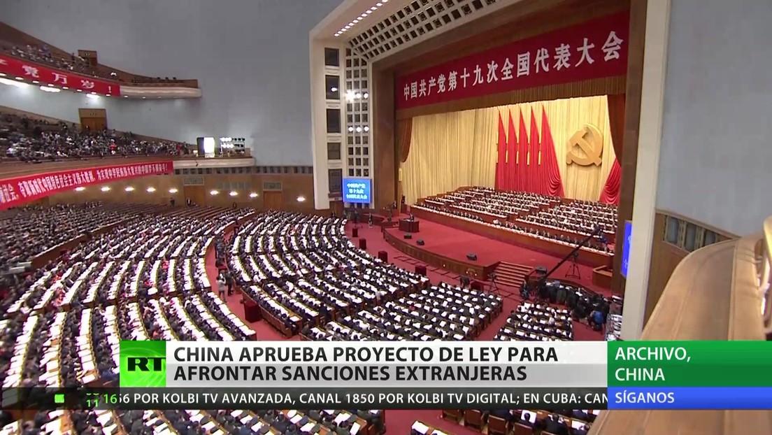 China aprueba un proyecto de  ley para contrarrestar sanciones extranjeras