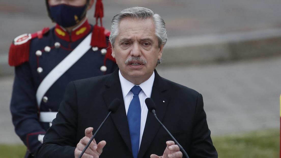 Alberto Fernández saluda a Pedro Castillo como presidente electo de Perú
