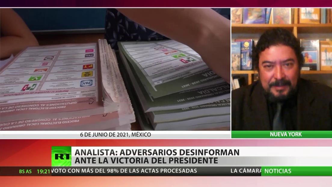 Analista: Adversarios desinforman ante la victoria electoral del partido del presidente de México