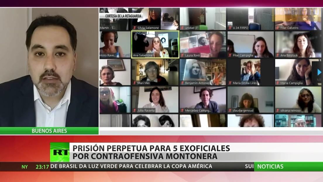 Argentina: Prisión perpetua para cinco exoficiales por el caso 'Contraofensiva Montonera'