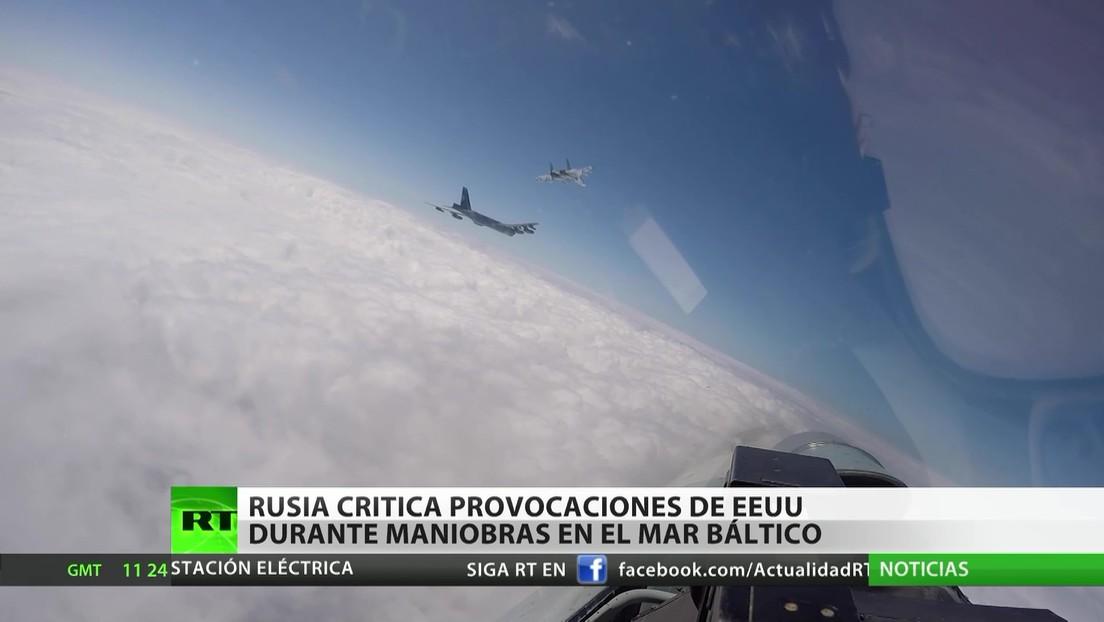 Rusia critica provocaciones de EE.UU. durante ejercicios militares en el Báltico
