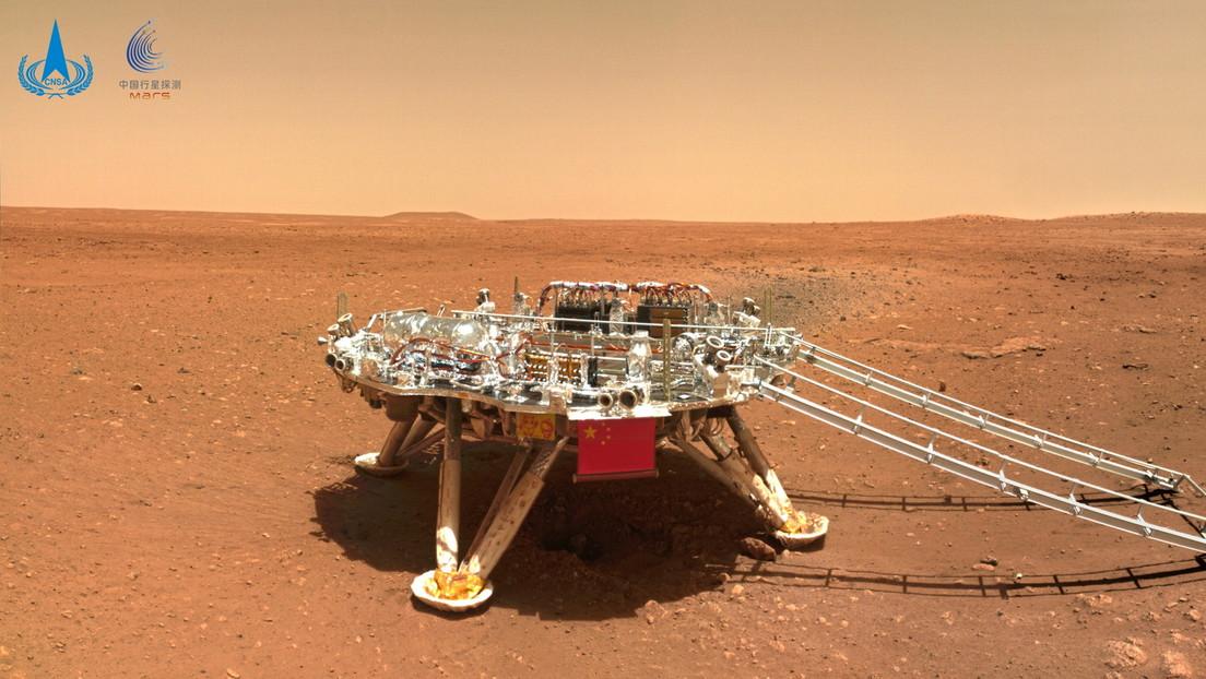 China pone su bandera en Marte y publica el primer lote de imágenes en alta resolución de su misión Tianwen-1