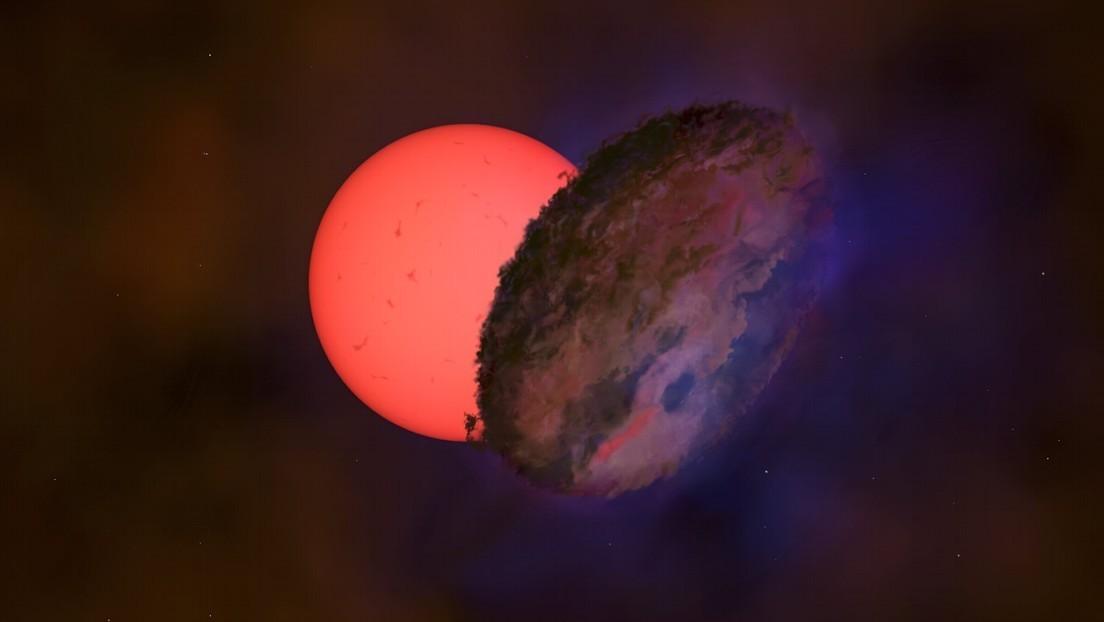 Astrónomos explican el inusual parpadeo de una estrella gigante cerca del centro galáctico