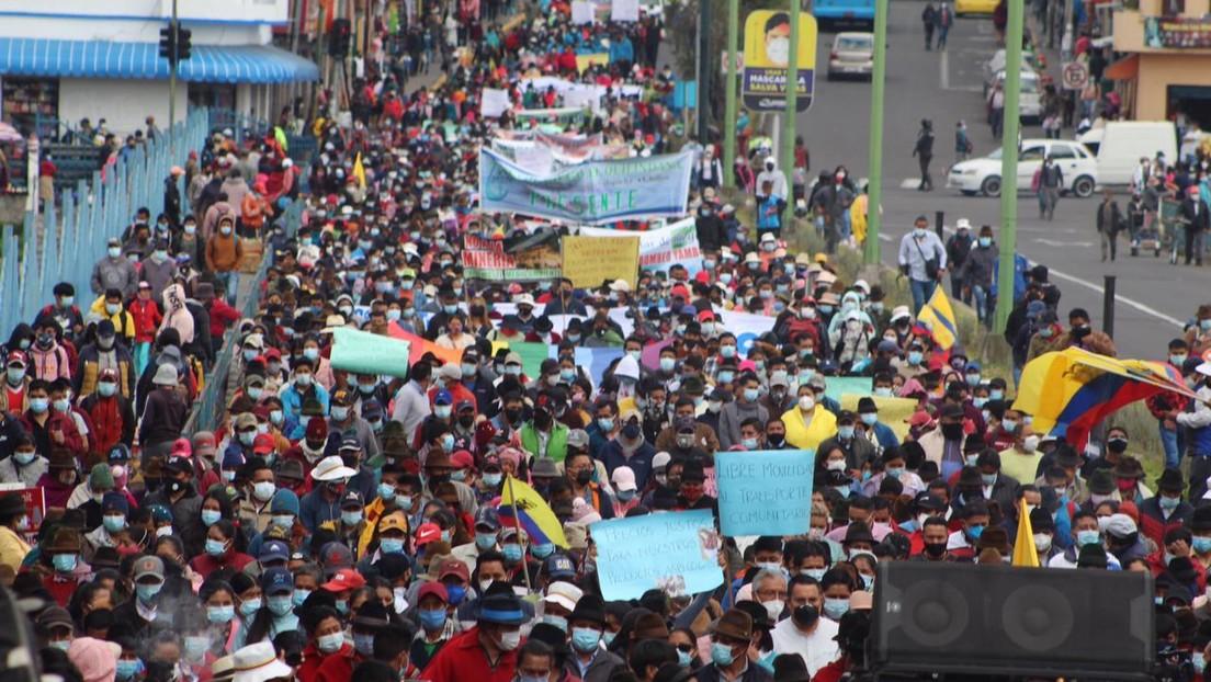 Indígenas y campesinos vuelven a las calles en Ecuador contra el alza de los combustibles y el empobrecimiento de los sectores más excluidos