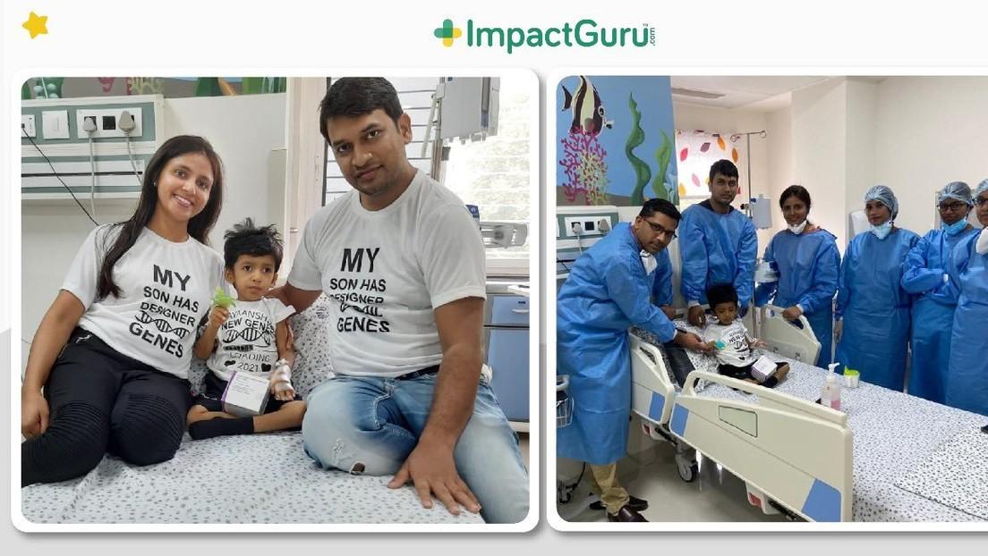 Un niño recibe en la India el fármaco más costoso del mundo tras recaudar sus padres más de 2 millones de dólares