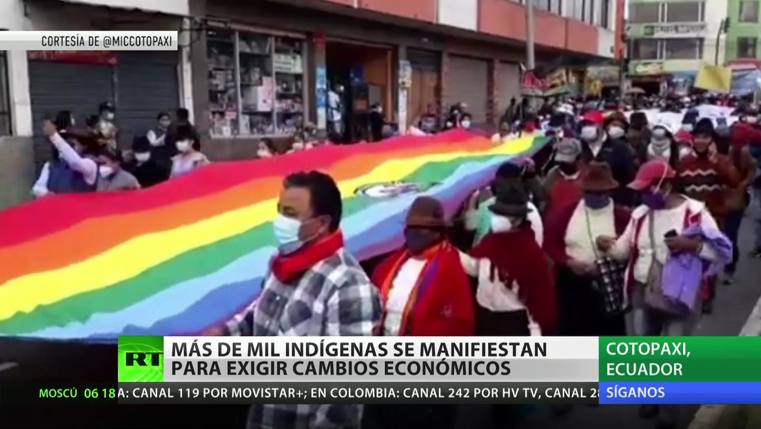 Más de mil indígenas se manifiestan en Ecuador para exigir cambios económicos