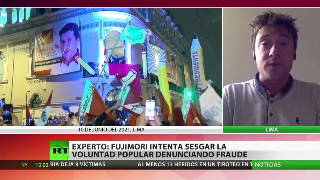 Experto: Fujimori intenta sesgar la voluntad popular denunciando fraude electoral