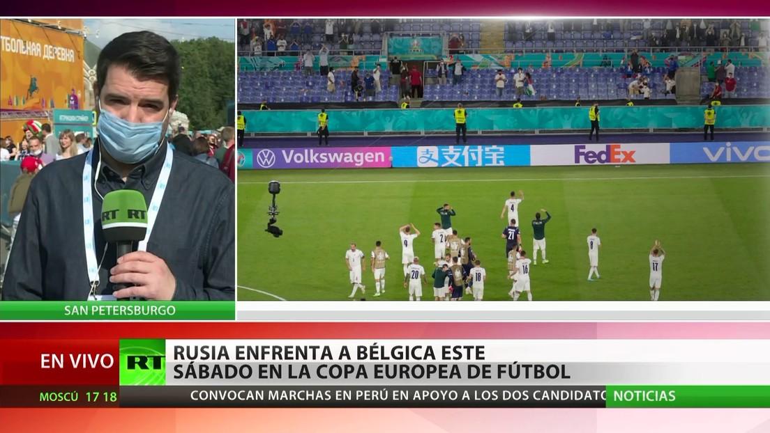 Rusia enfrenta a Bélgica este sábado en la Copa Europea de fútbol