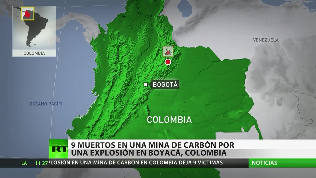 Colombia: Una explosión en una mina de carbón deja 9 muertos