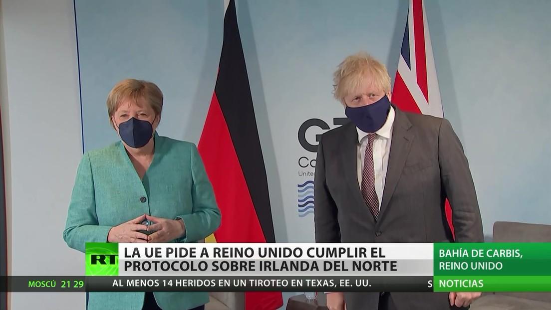 La UE pide a Reino Unido que cumpla el protocolo sobre Irlanda del Norte