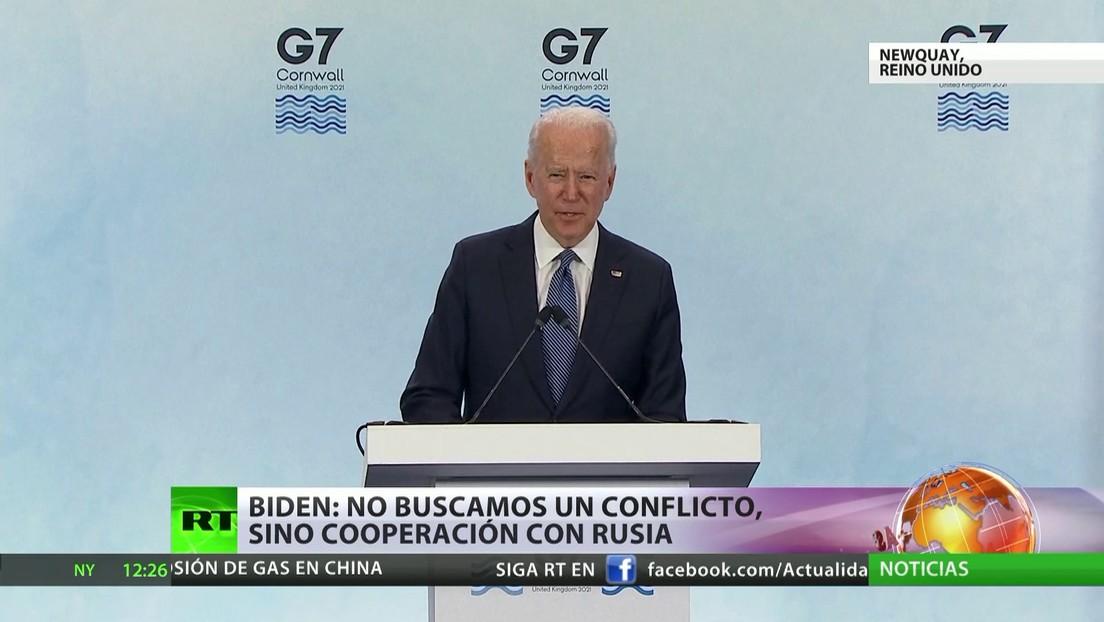 Biden: No buscamos un conflicto, sino cooperación con Rusia