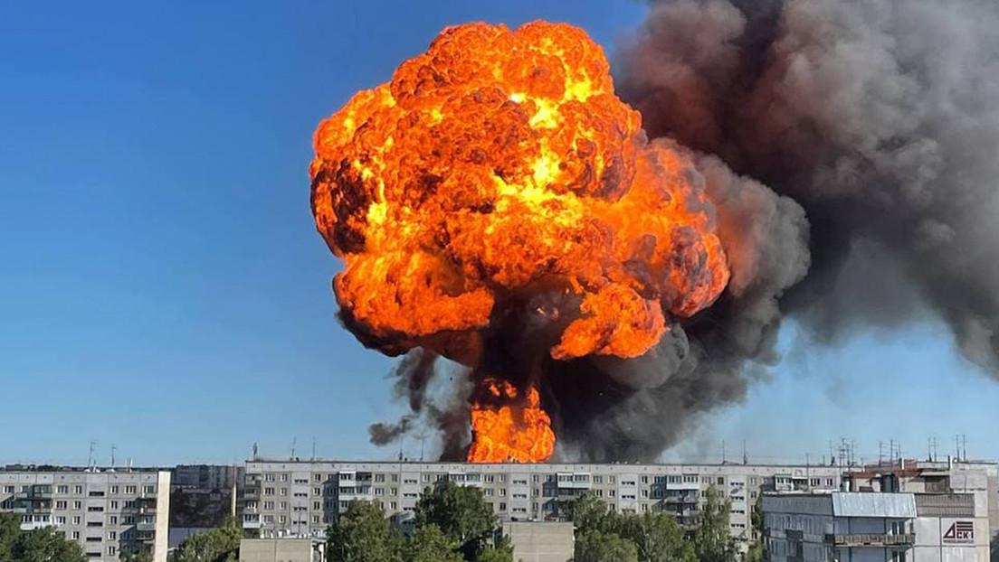 VIDEO: Un incendio y una serie de explosiones en una gasolinera dejan 35 heridos en Rusia