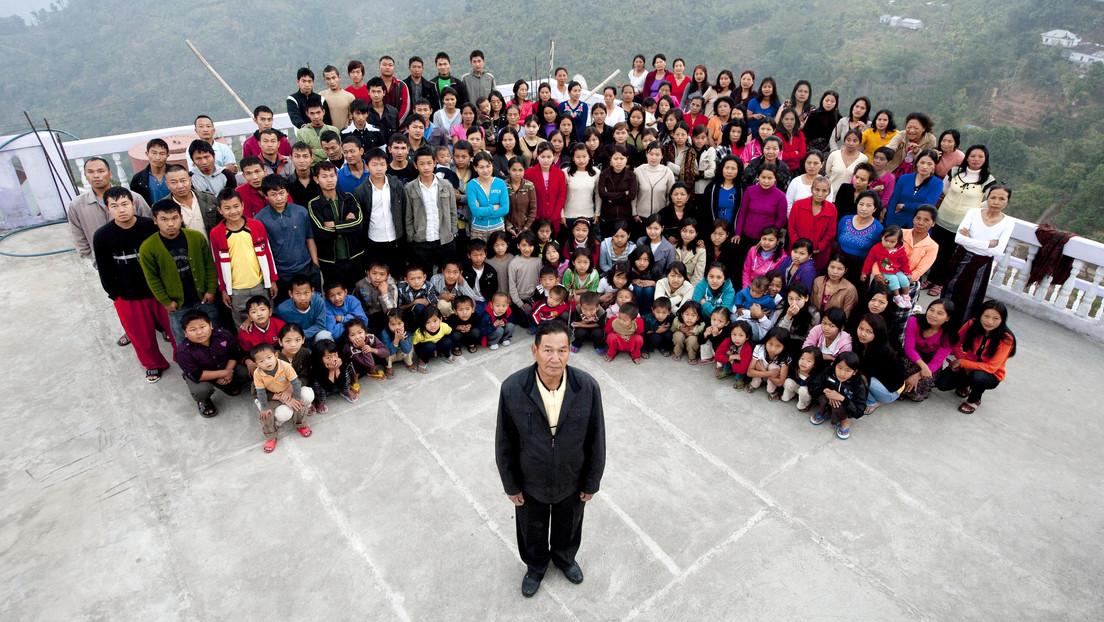 Muere a los 76 años el jefe de la familia más grande del mundo, con 38 esposas y 89 hijos